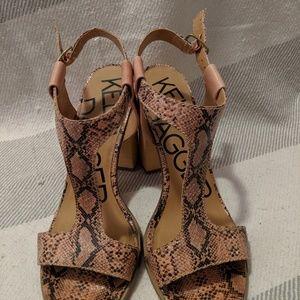 Kelsi Dagger Shoes - T-strap block heel sandal